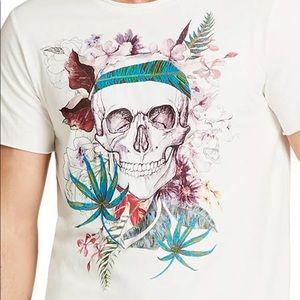 William Rast Skull Tropical Graphic T-Shirt - XL
